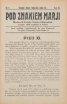 Pod Znakiem Marji. R. 2, nr 6 (1922)