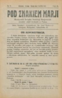 Pod Znakiem Marji. R. 2 , nr 9 (1922)