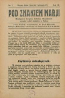 Pod Znakiem Marji. R. 4 , nr 1 (1923)