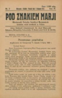 Pod Znakiem Marji. R. 4, nr 2 (1923)