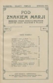 Pod Znakiem Marji. R. 5, nr 4 (1925)