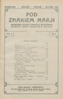 Pod Znakiem Marji. R. 5, nr 6 (1925)