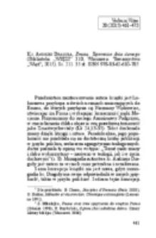 """Kubiś, Adam – Recenzja : Ks. Andrzej Draguła, Emaus. Tajemnice dnia ósmego (Biblioteka """"WIĘZI"""" 310; Warszawa: Towarzystwo """"Więź"""", 2015). Ss. 211. 35 zł. ISBN 978-83-62-610-785."""