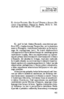 Mielcarek, Krzysztof - Recenzja : Ks. Antoni Paciorek, Kim On jest? Pytania o Jezusa z Nazaretu (Częstochowa: Edycja św. Pawła, 2013). ss. 344. 19,95 zł. ISBN: 978-83-7797-203-8.