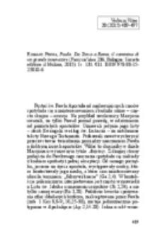 Bąk, Tomasz - Recenzja : Romano Penna, Paolo. Da Tarso a Roma, il cammino di un grande innovatore (Farsi un'idea 236; Bologna: Societa editrice il Mulino, 2015). Ss. 131. €11. ISBN 978-88-15-25810-6.