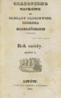 Czasopismo Naukowe : od Zakładu Narodowego imienia Ossolińskich wydawane. R. 6, z. 5 (1833).