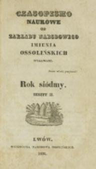 Czasopismo Naukowe : od Zakładu Narodowego imienia Ossolińskich wydawane. R. 7, z. 2 (1834).