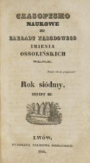 Czasopismo Naukowe : od Zakładu Narodowego imienia Ossolińskich wydawane. R. 7, z. 3 (1834).