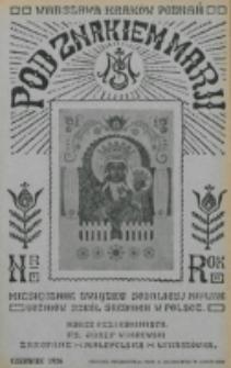 Pod Znakiem Marji. R. 6, nr 9 (1926)