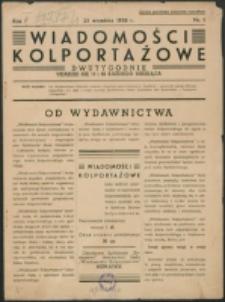 Wiadomości Kolportażowe. R. 1, nr 1 (1938)