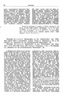 """Recenzja : Christoph Burchard , Bibliographie zu den Handschriften vom Toten Meer, Berlin 1959, 2, unveränderte Auflage, Verlag a. Töpelmann, s. XV + 118 (Beihefte zur """"Zeitschrift für die Alttestamentliche Wissenschaft"""", 76)."""