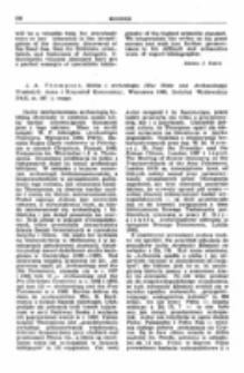 Recenzja : J. A. Thompson , Biblia i archeologia (the Bibie and Archaeology). Przełożyli: Anna i Krzysztof Komorniccy, Warszawa 1965, Instytut Wydawniczy PAX, ss. 347 + mapy.