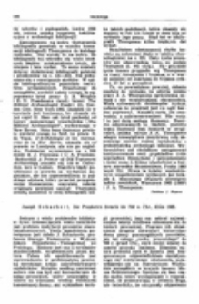 Recenzja : Joseph Scharbert , Die Propheten Israels bis 700 v. Chr., Köln 1965.