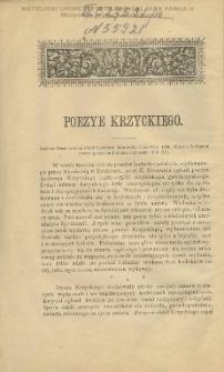Poezye Krzyckiego / St. Ptaszycki.