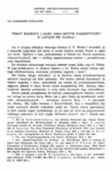 Temat nagrody i kary jako motyw parenetycznyw listach św. Pawła.