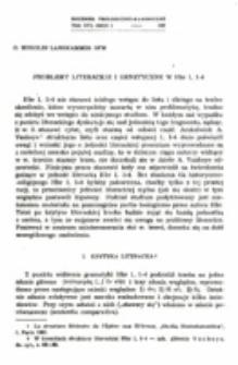 Problemy literackie i genetyczne w Hbr 1, 1-4.