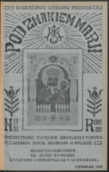 Pod Znakiem Marji. R. 8 , nr 2 (listopad 1928)