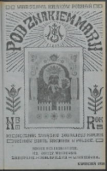 Pod Znakiem Marji. R. 8, nr 7 (1928)