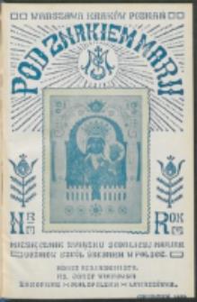 Pod Znakiem Marji. R. 11, nr 3 (1930)