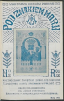 Pod Znakiem Marji. R. 11, nr 8 (1931)