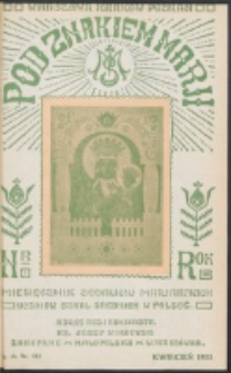 Pod Znakiem Marji. R. 13, nr 7 = 115 (1933).