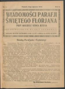 Wiadomości Parafji Św. Florjana przy Kościele Serca Jezusa za Zezwoleniem Władzy Duchownej Królowi Wieków Nieśmiertelnemu Cześć i Chwała na Wieki Wieków!. R. 2, nr 1 (1919)