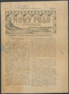 Nowy Prąd. 1912, nr 1