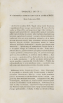 Młoda Polska. Dodatek do No 1 (1838)