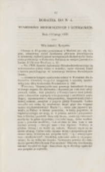 Młoda Polska. Dodatek do No 4 (1838)