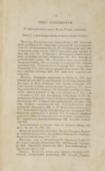 Treść przedmiotów w tomie pierwszym pisma Młoda Polska zawartych (1838 )