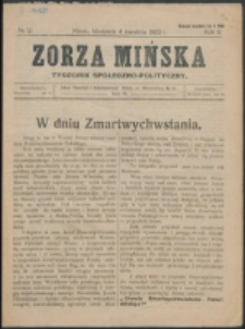 Zorza Mińska. R.2, nr 12 (1920)