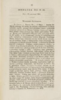Młoda Polska. Dodatek do No 16 (1840)