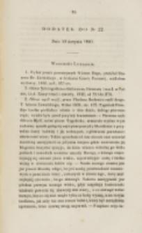 Młoda Polska. Dodatek do No 22 (1840)