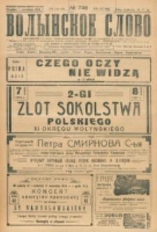 Volynskoe Slovo. G. 4, nr 746 (1924)