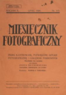 Miesięcznik Fotograficzny. R. 10, nr 115 (1929)