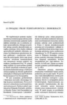 O związku praw podstawowych i demokracji.