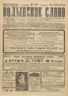 Volynskoe Slovo. G. 4, nr 787 (1924)