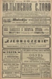 Volynskoe Slovo. G. 6, nr 1004 (1926)