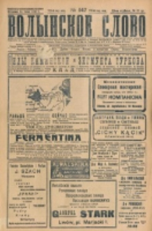 Volynskoe Slovo. G. 7, nr 1147 (1927)