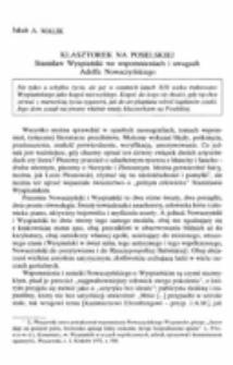 Klasztorek na Poselskiej. Stanisłąw Wyspiański we wspomnieniach i uwagach Adolfa Nowaczyńskiego.