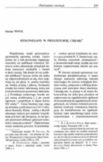 Rekonesans w prehistorę chemii.