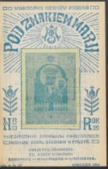 Pod Znakiem Marji. R. 15, nr 3 = 129 (1934)