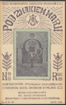 Pod Znakiem Marji. R. 16, nr 5 = 140 (1936)