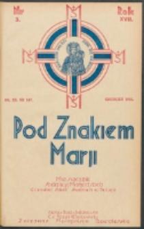 Pod Znakiem Marji. R. 17, nr 3 = 147 (1936)