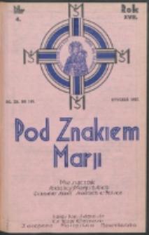 Pod Znakiem Marji. R. 17, nr 4 = 148 (1937)
