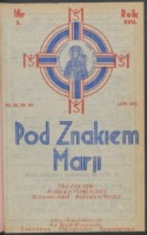 Pod Znakiem Marji. R. 17, nr 5 = 149 (1937)