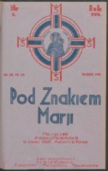 Pod Znakiem Marji. R. 17, nr 6 = 150 (1937)