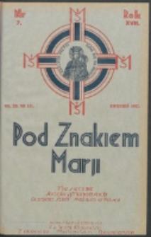 Pod Znakiem Marji. R. 17, nr 7 = 151 (1937)