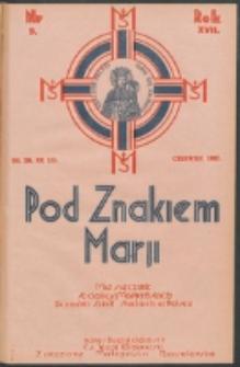 Pod Znakiem Marji. R. 17, nr 9 = 153 (1937)