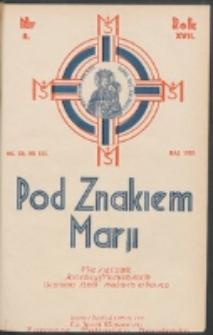 Pod Znakiem Marji. R. 17, nr 8 = 152 (1937)